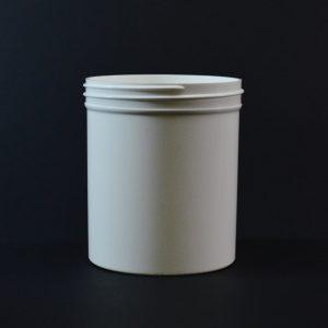 Plastic Jar 16 oz. Regular Wall Straight Base White PP 89-400_1327