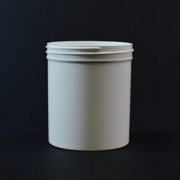Plastic Jar 16 oz. Regular Wall Straight Base White PP 89-400_1327