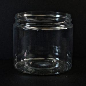 Plastic Jar 16 oz. Straight Sided PET Clear 89-400_1390