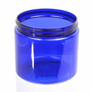 Plastic Jar 16 oz. Straight Sided PET Cobalt 89-400_1391