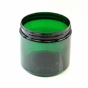 Plastic Jar 16 oz. Straight Sided PET Emerald 89-400_1392