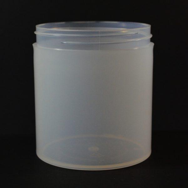 Plastic Jar 16 oz. Thick Wall Straight Base Natural PP 89-400_1495