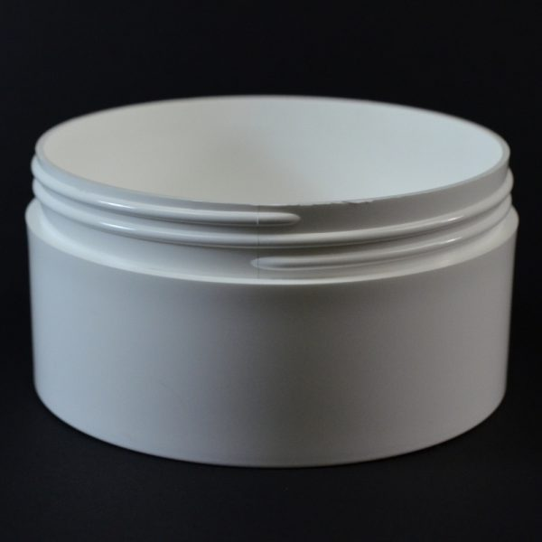 Plastic Jar 16 oz. Thick Wall Straight Base White PP 120-400_1499
