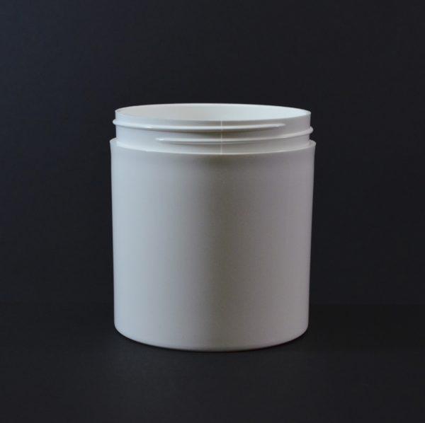 Plastic Jar 16 oz. Thick Wall Straight Base White PP 89-400_1496