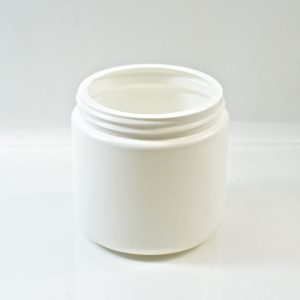Plastic Jar 16 oz. Wide Mouth White HDPE 89-400_1345