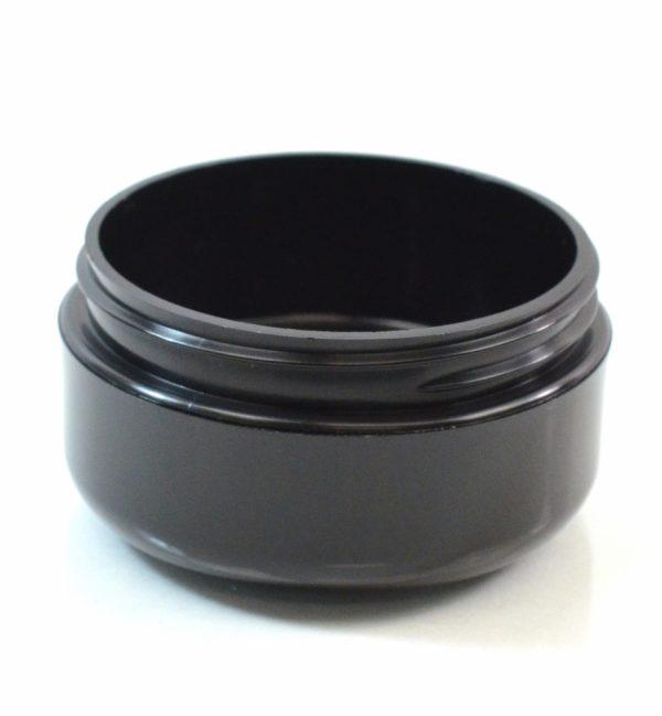 Plastic Jar 2 oz. Double Wall Round Base Black PP-PP 70-400_1177