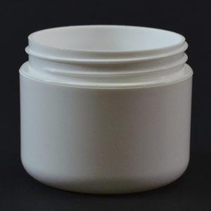 Plastic Jar 2 oz. Double Wall Round Base White PP-PP 58-400_1174