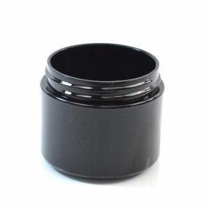 Plastic Jar 2 oz. Double Wall Straight Base Black PP-PP 58-400_1192