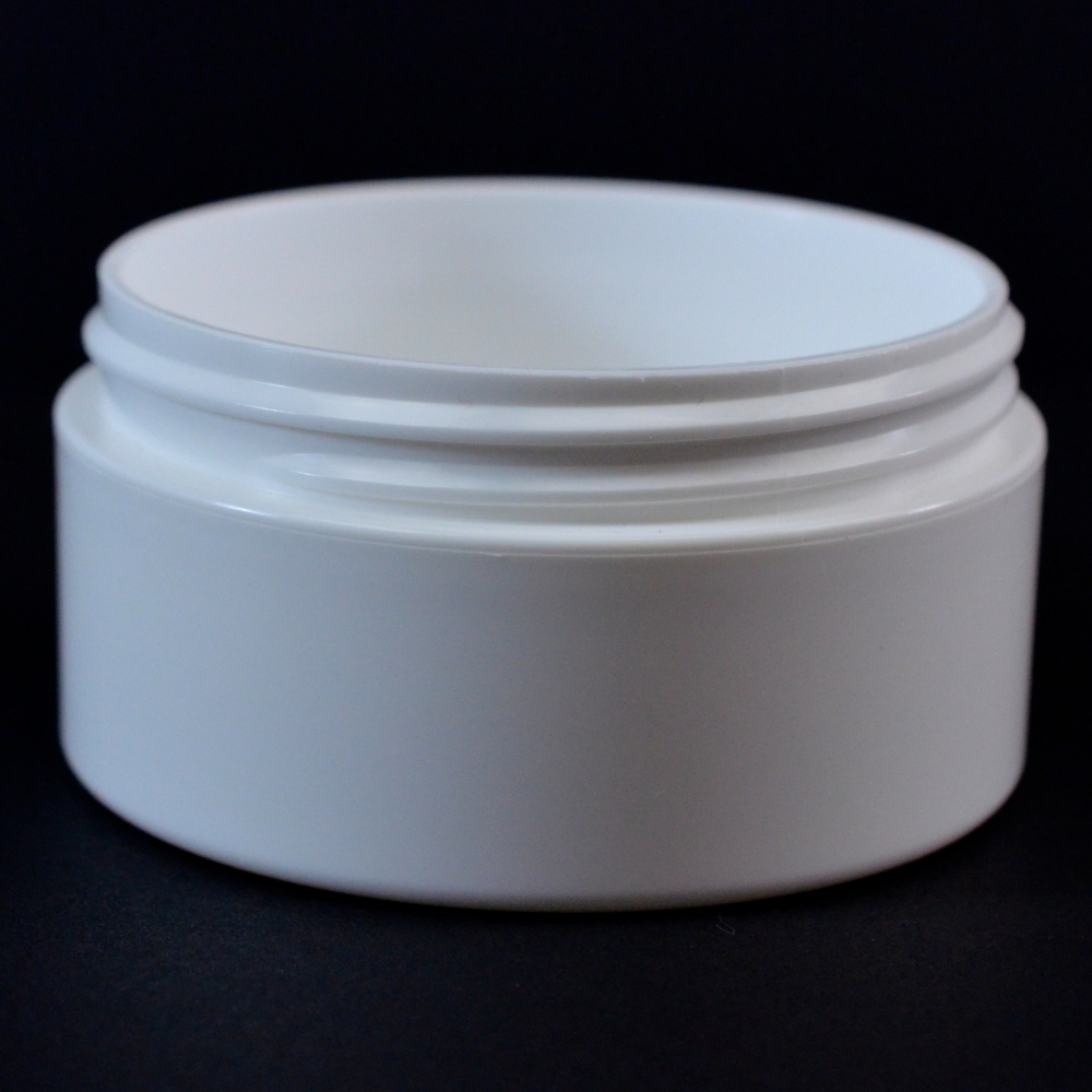 2 oz 70/400 Double Wall Straight Base White PP Jar