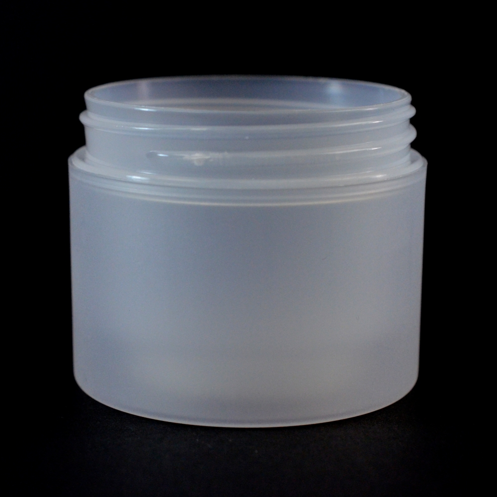 2 oz 58/400 Double Wall Straight Base Natural PP Jar