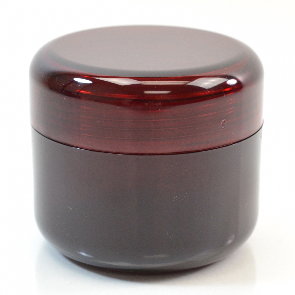 2 oz 53 MM Dark Red Thick Wall Round Base SAN Jar