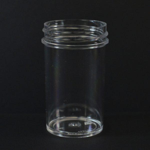 Plastic Jar 2 oz. Regular Wall Straight Base Clear PS 43-400_1265