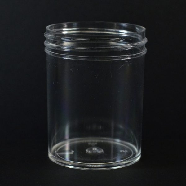 Plastic Jar 2 oz. Regular Wall Straight Base Clear PS 53-400_1271
