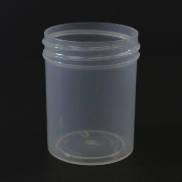 Plastic Jar 2 oz. Regular Wall Straight Base Natural PP 48-400_1269
