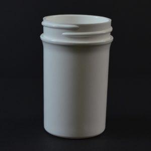 Plastic Jar 2 oz. Regular Wall Straight Base White PP 43-400_1267