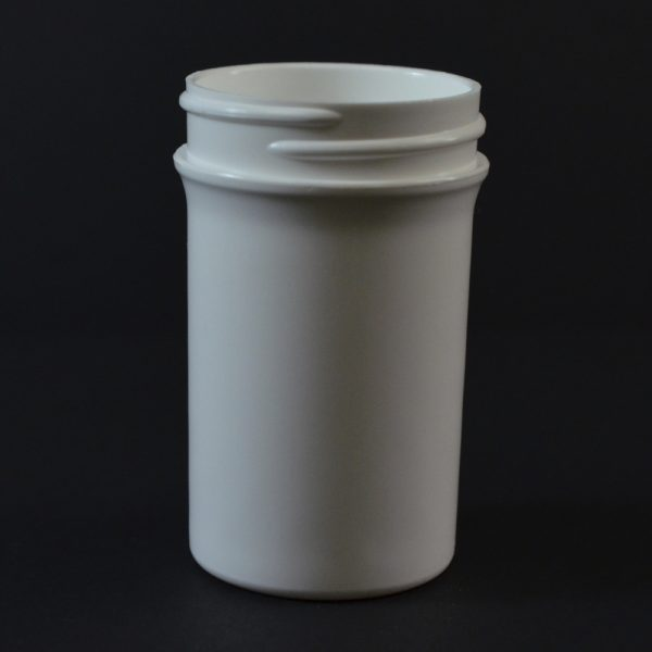 Plastic Jar 2 oz. Regular Wall Straight Base White PP 43-400_1267