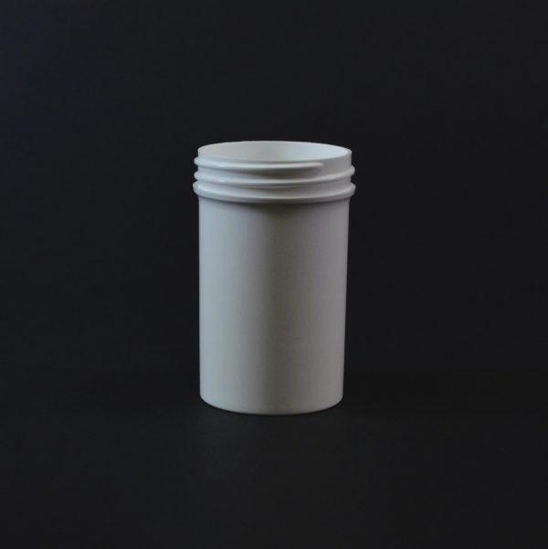 Plastic Jar 2 oz. Regular Wall Straight Base White PP 48-400_1270