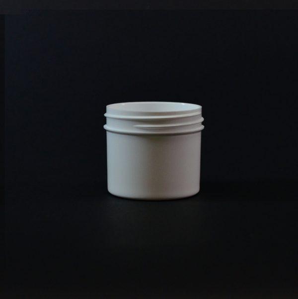 Plastic Jar 2 oz. Regular Wall Straight Base White PP 53-400_1273