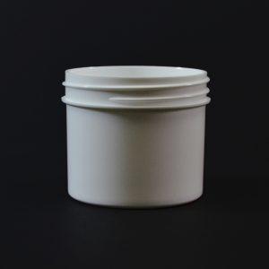 Plastic Jar 2 oz. Regular Wall Straight Base White PP 58-400_1276