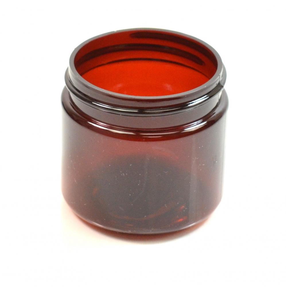 2 oz 48/400 Wide Mouth Amber PET Jar