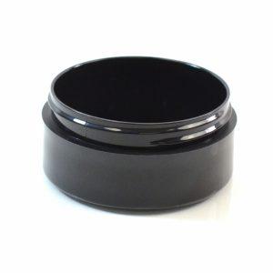 Plastic Jar 2 oz. Thick Wall Straight Base Black 70-400_1465