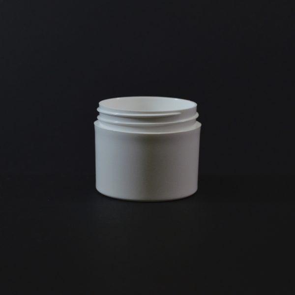Plastic Jar 2 oz. Thick Wall Straight Base White PP 53-400_1457