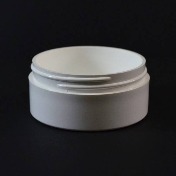 Plastic Jar 2 oz. Thick Wall Straight Base White PP 70-400_1464