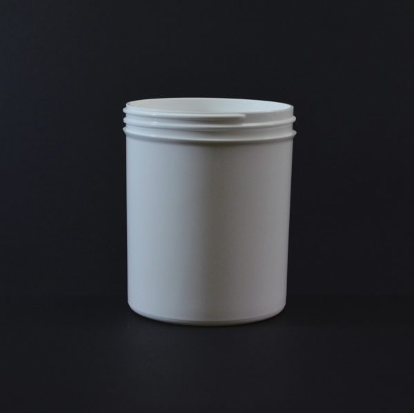 Plastic Jar 20 oz. Regular Wall Straight Base White PP 89-400_1330