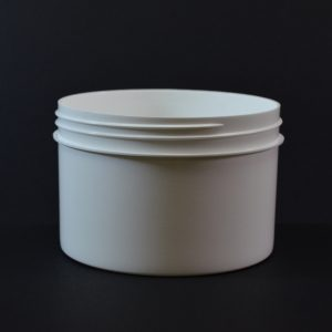 Plastic Jar 24 oz. Regular Wall Straight Base White PP 120-400_1333