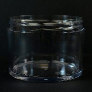 Plastic Jar 250ml Heavy Wall Low Profile Clear PETG 83-400_1525
