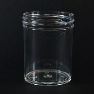 Plastic Jar 3 oz. Regular Wall Straight Base Clear PS 53-400_1280