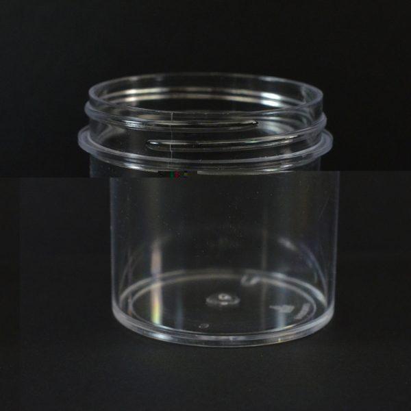 Plastic Jar 3 oz. Regular Wall Straight Base Clear PS 58-400_1283