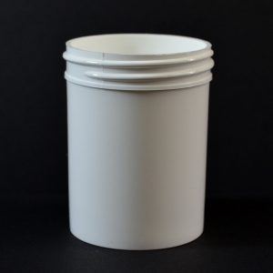 Plastic Jar 3 oz. Regular Wall Straight Base White PP 53-400_1282