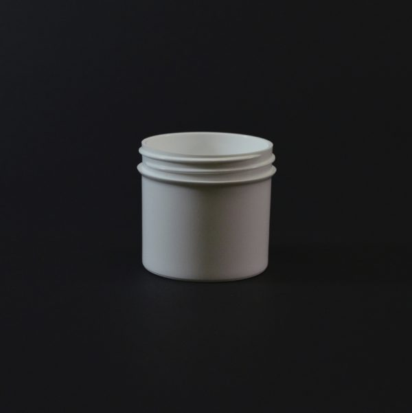 Plastic Jar 3 oz. Regular Wall Straight Base White PP 58-400_1285