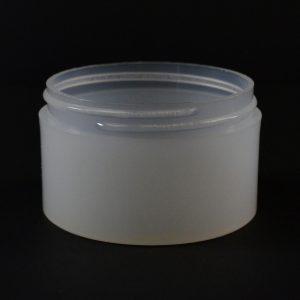 Plastic Jar 3 oz. Thick Wall Straight Base Natural PP 70-400_1470