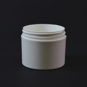 Plastic Jar 3 oz. Thick Wall Straight Base White PP 58-400_1468