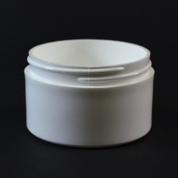 Plastic Jar 3 oz. Thick Wall Straight Base White PP 70-400_1471