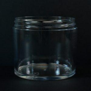 Plastic Jar 300ml Heavy Wall Low Profile Clear PETG 83-400_1527