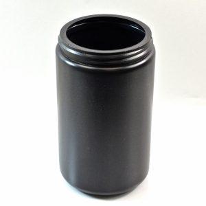 Plastic Jar 32 oz. Wide Mouth Black HDPE 89-400_1349
