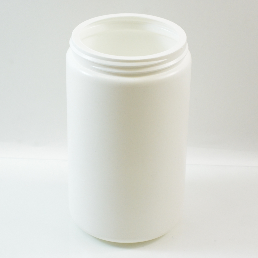 32 oz 89/400 White HDPE Wide Mouth Regular Wall Straight Sided Jar