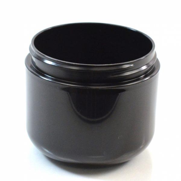 Plastic Jar 4 oz. Double Wall Round Base Black PP-PP 70-400_1178