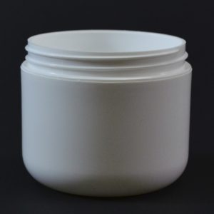 Plastic Jar 4 oz. Double Wall Round Base White PP-PS 70-400_1180