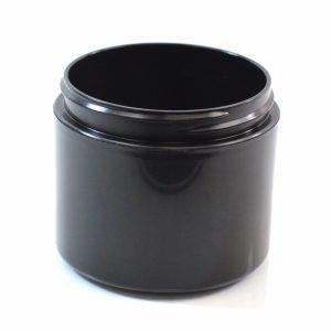 Plastic Jar 4 oz. Double Wall Straight Base Black PP-PP 70-400_1198