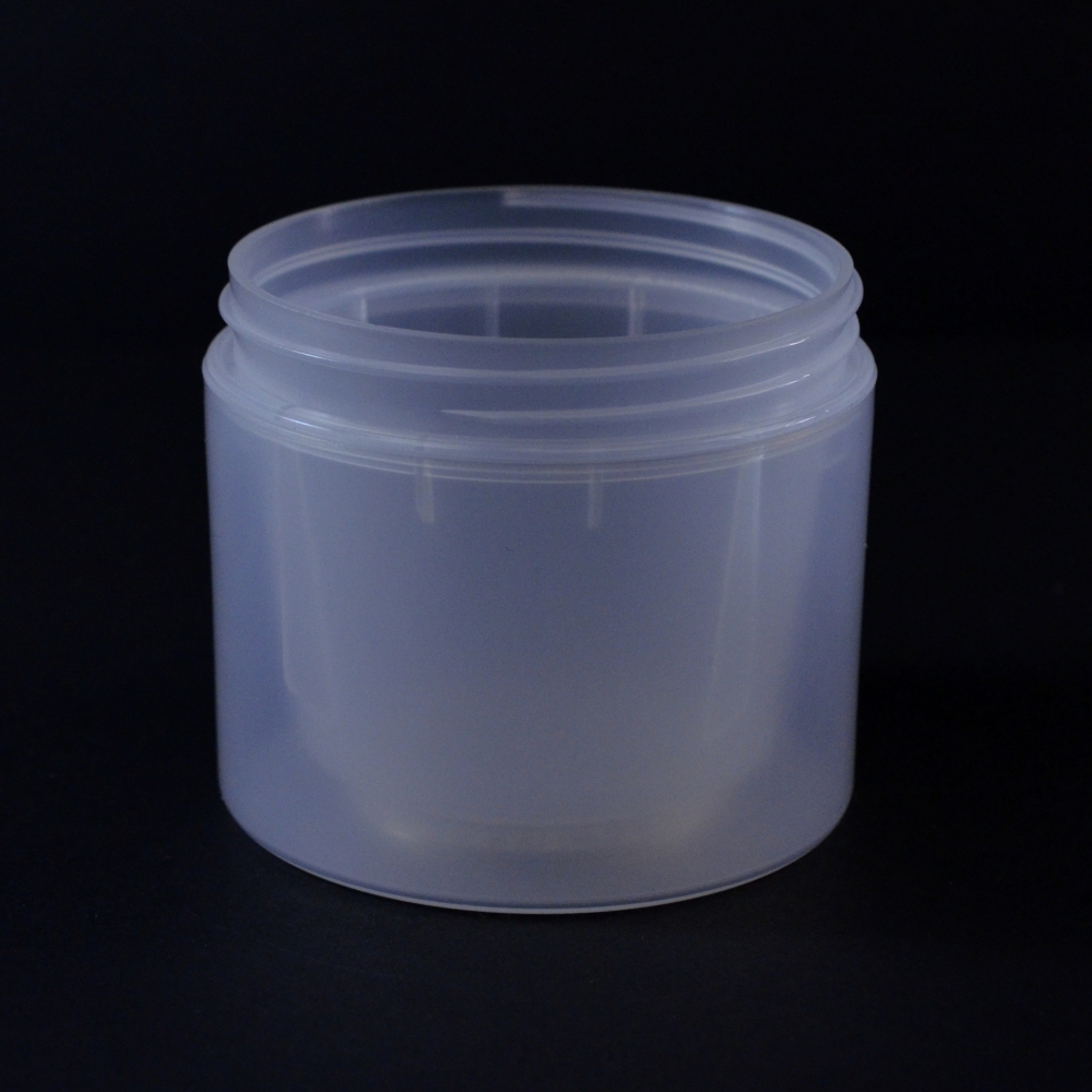 4 oz 70/400 Double Wall Straight Base Natural PP Jar