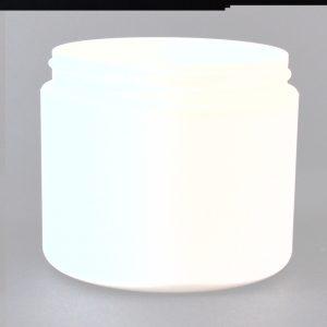 Plastic Jar 4 oz. Double Wall Straight Base White PP-PP 70-400_1201