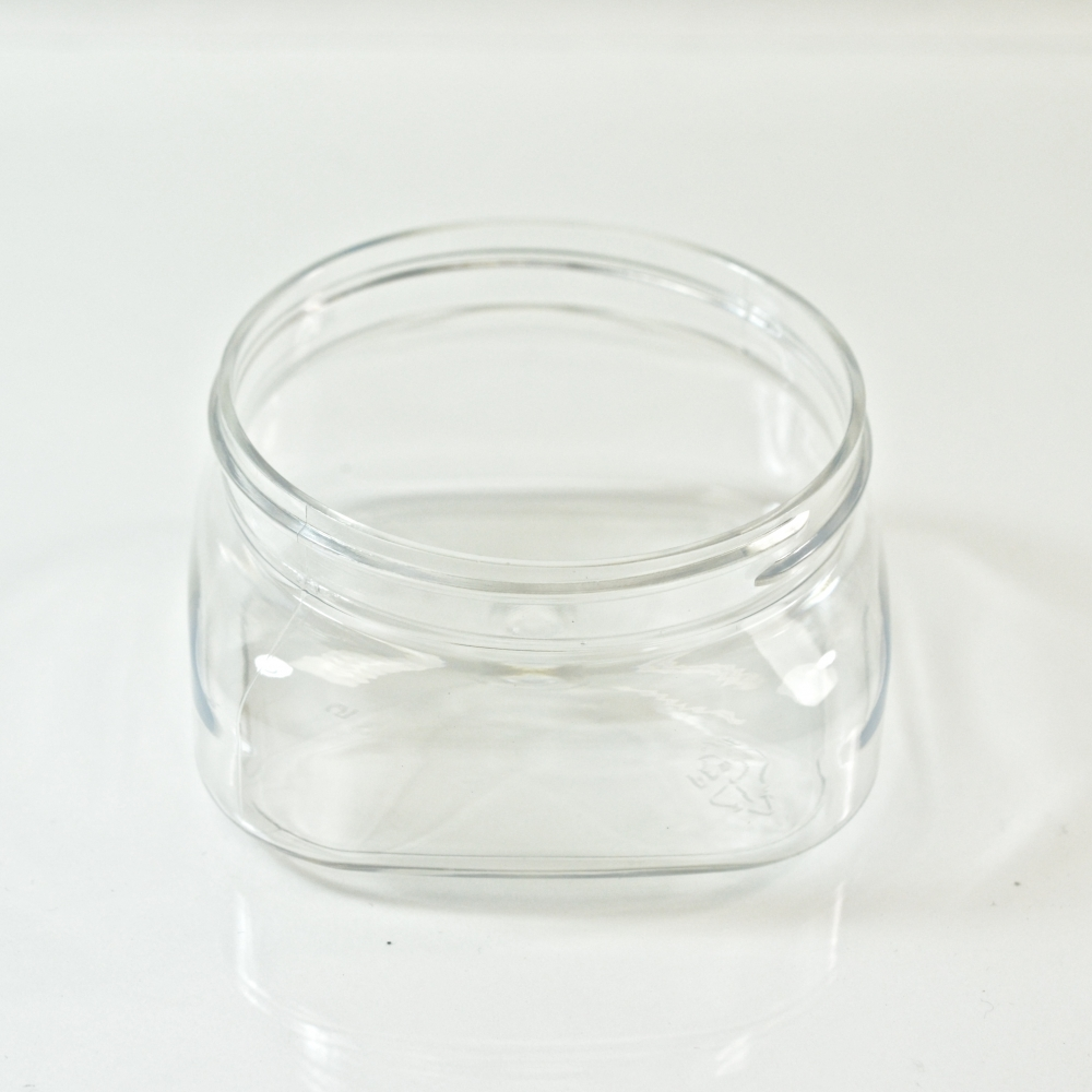 4 oz 70/400 Firenze Square Clear PET Jar