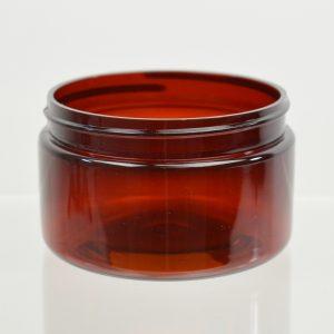 Plastic Jar 4 oz. Heavy Wall Low Profile Amber PET 70-400_1210