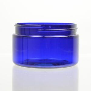 Plastic Jar 4 oz. Heavy Wall Low Profile Cobalt PET 70-400_1212