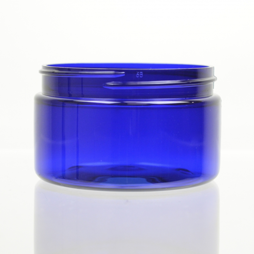 4 oz 70/400 Low Profile Cobalt Blue PET Jar