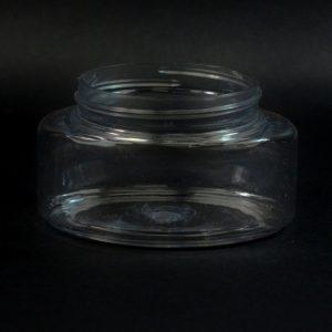 Plastic Jar 4 oz. Powell Oval PET Clear 58-400_1228